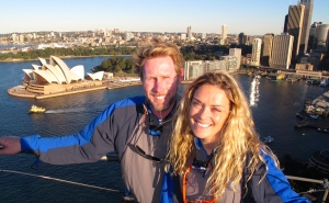 View from the top of Sydney Harbour Bridge!  Absolutely spectacular!!