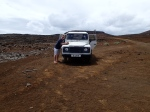 Paul with the Land Rover!