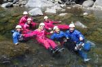 gang of pals climing treaking and canyoning in la reunion