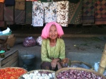 local lady selling at the market