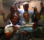 Abbie (Paul & Audreys niece) along with the LUSH crew showing off their catch!