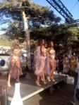 Dancers at the beach club!