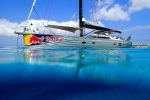 Pauls best pic of LUSH in an anchorage in Formentera.  Such unbelievably clear water