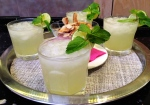 Mint, ginger and lime lemonade served with hot coconut crisps! Yum!