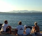 BBQ and sundowners ashore